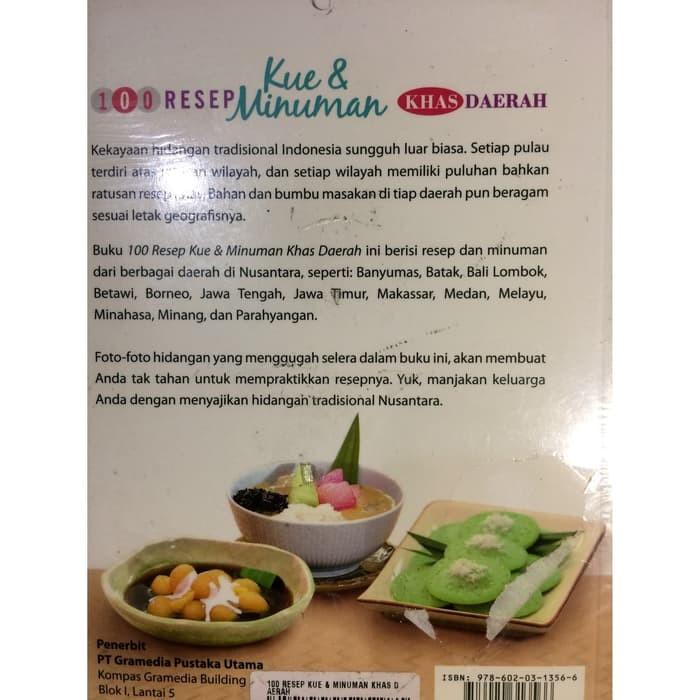 Jual Murah Buku Buku 100 Resep Kue Dan Minuman Khas Daerah