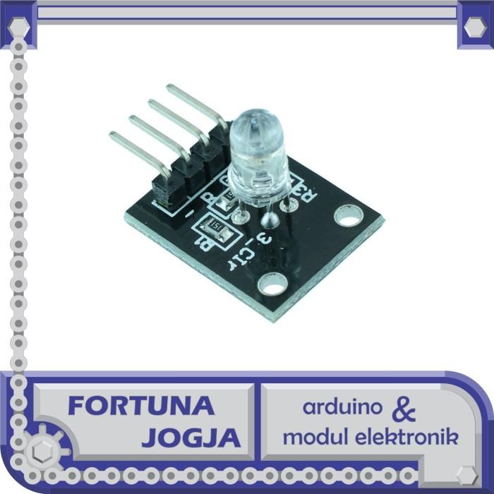 Foto Produk Modul LED RGB 5mm 3 Warna 4 Pin dari Fortuna Jogja