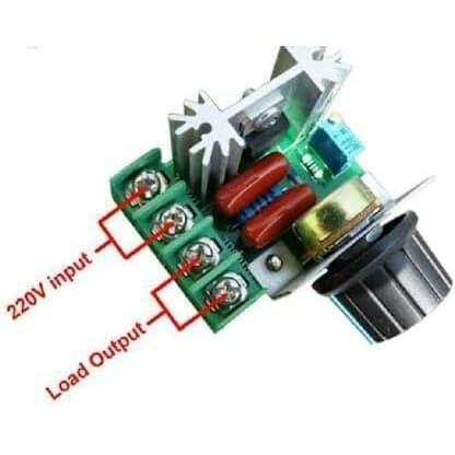 Foto Produk dimmer 2000W SCR 2000W pengatur kecepatan motor gerinda bor dari awallaptop
