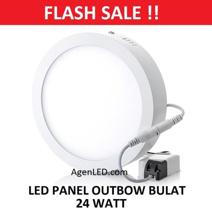 Foto Produk Lampu downlight LED Panel 24W Putih 24 W Watt 24Watt OUTBOW BULAT OB dari AgenLED