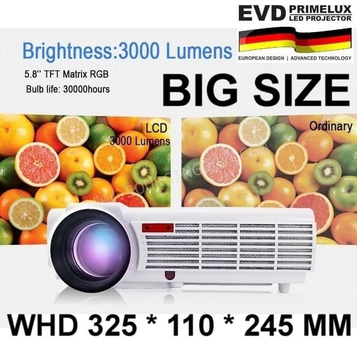 Foto Produk PROJECTOR LED - HD QUALITY - 3000 AL - EVD PRIMELUX dari EtalaseBelanja