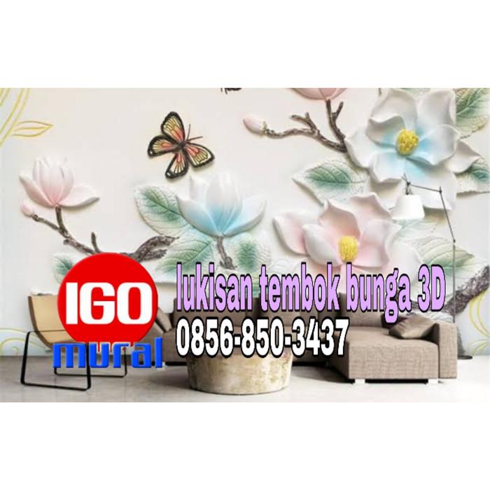 Jual 0856 850 3437 Jasa Lukisan Tembok Motif Bunga Jogja Igo Mural