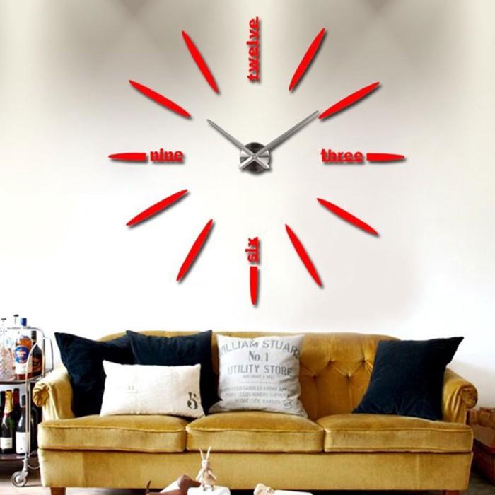 Jual Wall Clocks Mirror Sticker Decor Home Living Room Diy Modern Design Jakarta Barat Grosir Ike Tokopedia