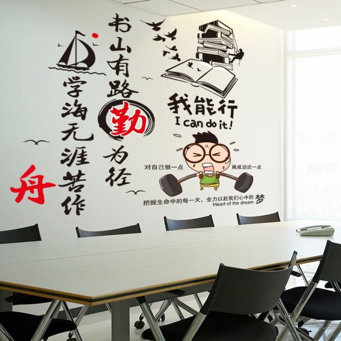 Jual Motivational Wall Stickers Paper Wallpaper Adhesive