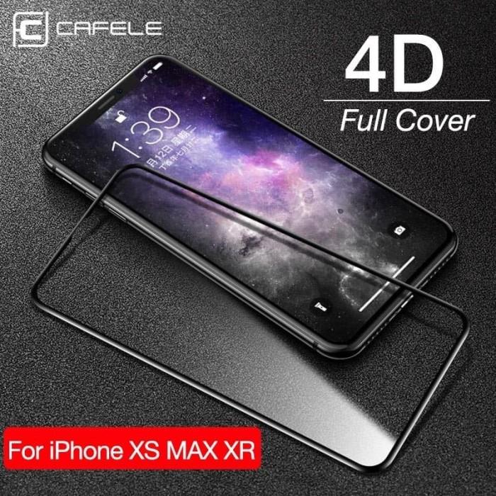 Foto Produk Cafele Full Tempered Glass Anti Gores iPhone X/XS/XS Max/XR/11 Pro Max dari 4K