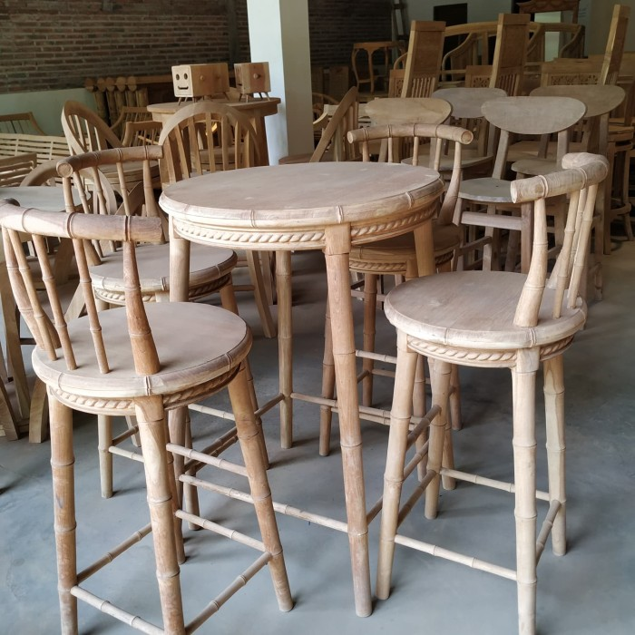 Jual Set Meja Kursi Bar Cafe Bambu Murah Terbaru Kab Jepara Bintang Jaya Tokopedia