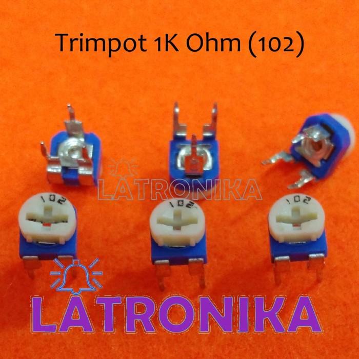 Foto Produk Trimpot 1k Potensio 1k VR 102 Variable Resistor Potensiometer 1K dari Latronika
