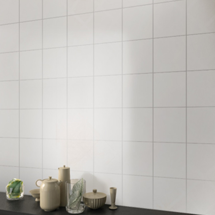 Foto Produk Keramik Polos 20x20 DF200 Keramik Lantai / Dinding Putih Matte Mozaik dari Wisma Sehati Online