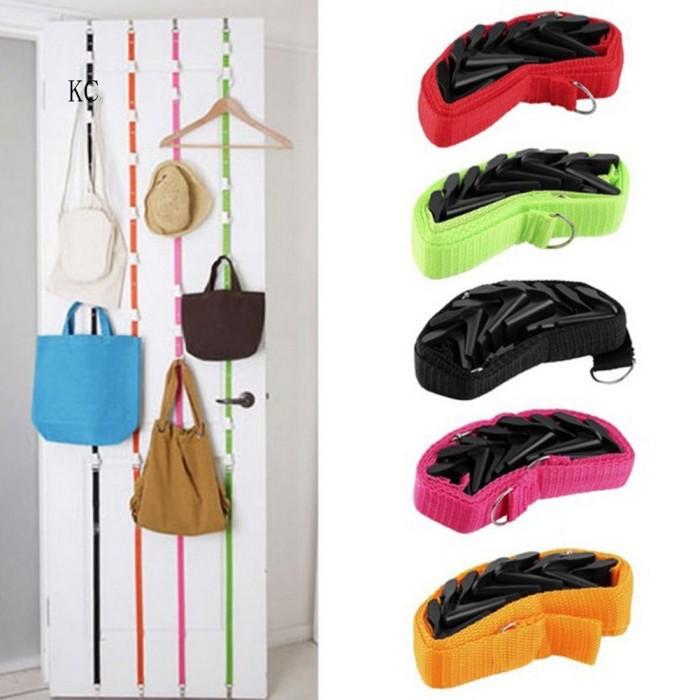 Jual Adjustable Hanging Hook Rack Rope Door Hanger Clothes Bag Hat Storage Jakarta Timur Carnation Branded Tokopedia