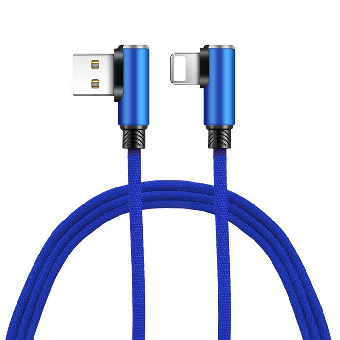 Foto Produk WJYWSY- Kable Data Lightning L Shape 2.4A Fast Gaming Charger - IPHONE - Biru dari tokolingli