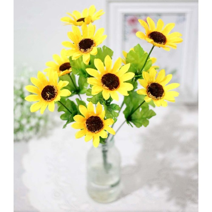 Jual Bunga Plastik Bunga Hias Bunga Artificial Matahari Flower Sun 2 Jakarta Pusat Shabina Tokopedia