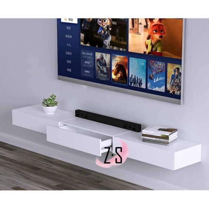 Foto Produk Rak Meja Dinding / Hanging Table Shelf /Floating Shelf Table 60x20x5.5 - Putih dari Zakka Store