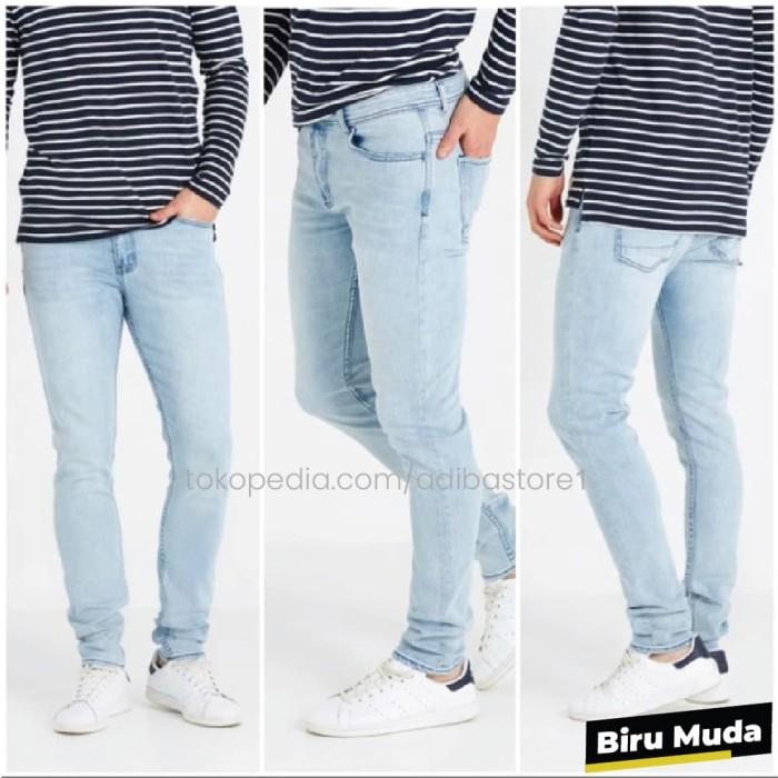 Foto Produk Celana Jeans Skinny / Pensil / Slimfit Pria 27 - 32 - Biru Muda, 30 dari Adiba Store 1