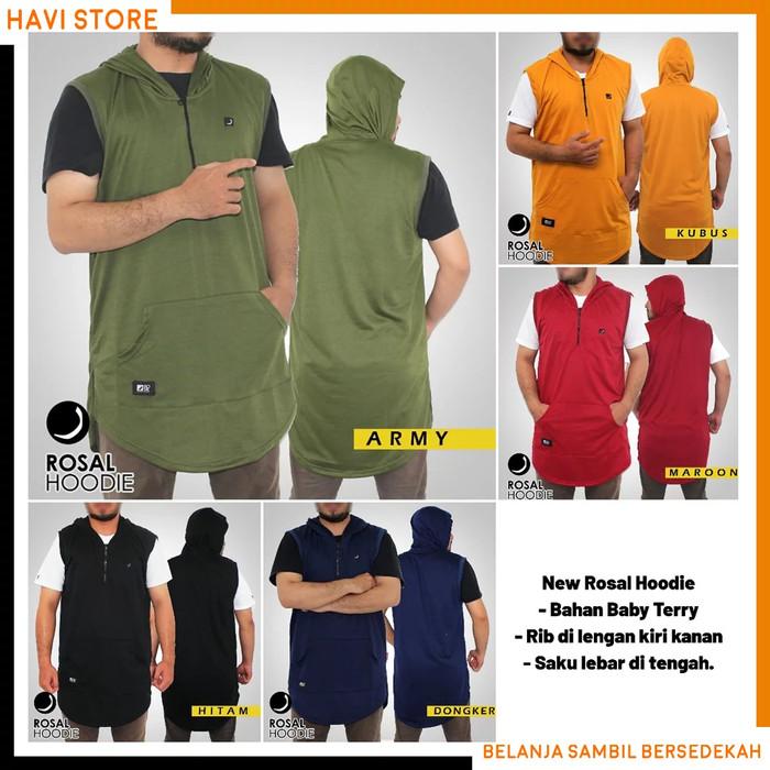 Foto Produk ROSAL HOODIE - Rompi Pakaian Shalat Salat Baju Koko Gamis Pakistan - Hijau Army, XXXL dari HAVI Store