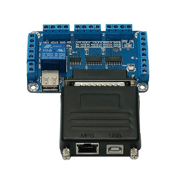 【DE】200KHz USB to Parallel Adapter Mach3 CNC Motion Controller LPT USB Converter