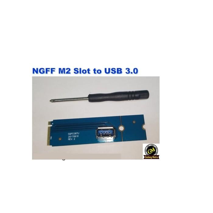 Foto Produk NGFF M2 BLUE Slot to USB for Riser Adapter dari Gudang Metro JKT