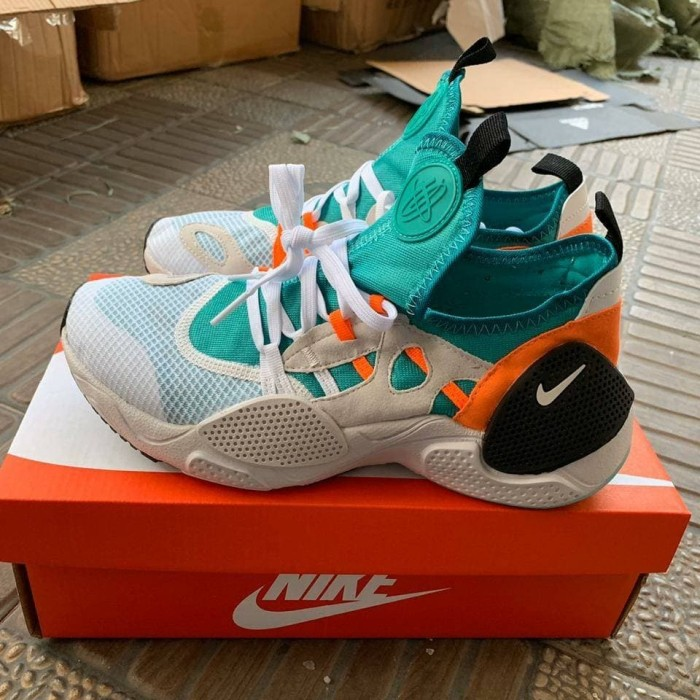 Jual Sepatu Sneakers Nike Huarache EDGE Grey Green Black - Jakarta Selatan - ridoshop9   Tokopedia