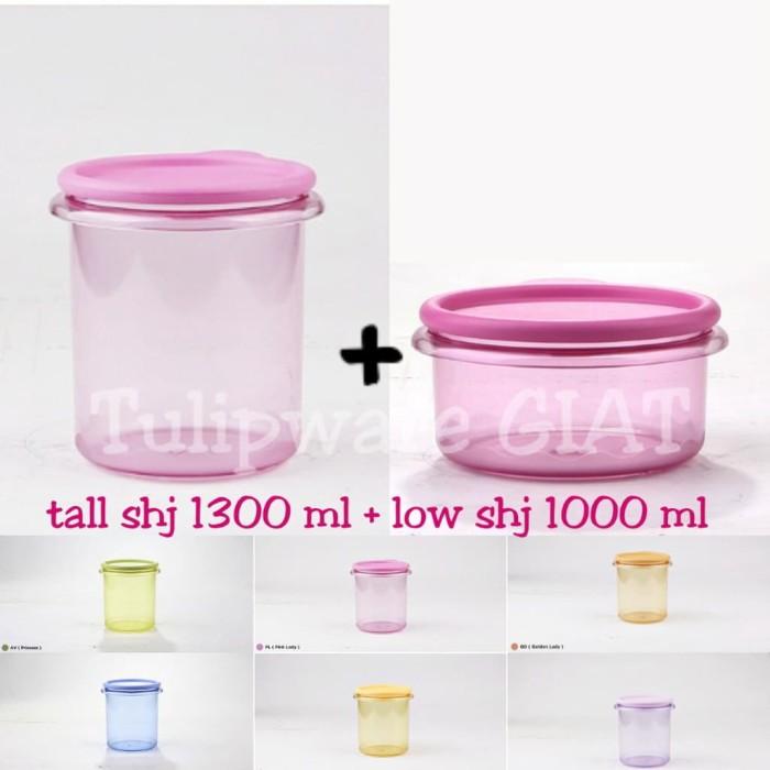 Foto Produk Set Toples Anti Pecah / Tall dan Low Stack Handy Jar Tulipware dari TULIPWARE collection
