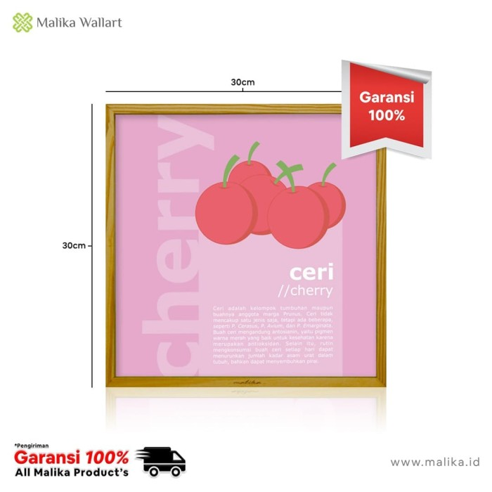 Foto Produk Dekorasi Rumah Elegant Menggunakan Hiasan Dinding Buah Cherry dari malikawallart
