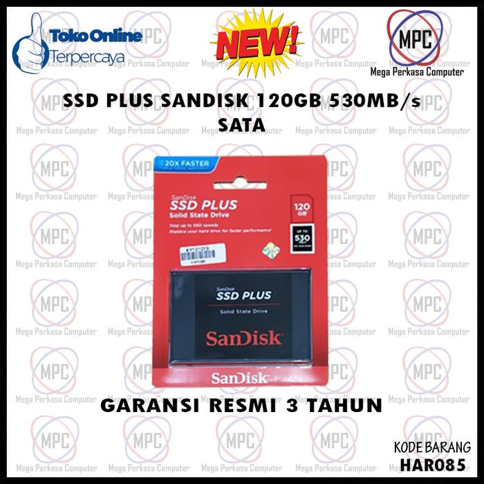 Foto Produk SanDisk SSD PLUS 120GB 530Mbps Sata Resmi dari Mega Perkasa Computer