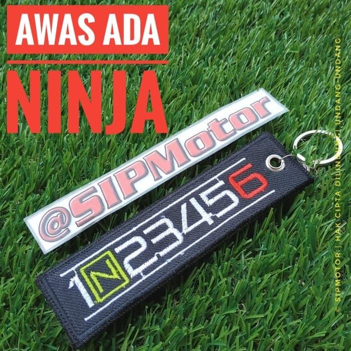 Foto Produk Gantungan Kunci Motor Ninja 1N23456 Keytag Keychain Bordir dari SIPMotor