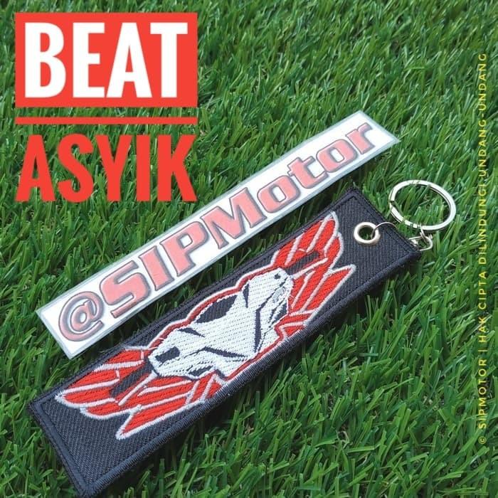 Foto Produk Gantungan Kunci Motor Honda Beat Logo Keytag Keychain Bordir dari SIPMotor