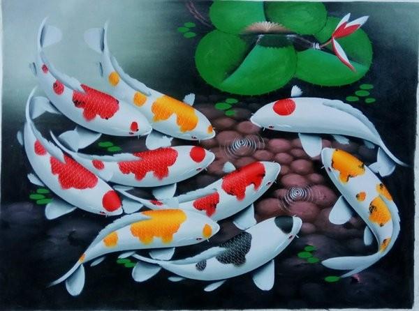 Gambar Lukisan Ikan Koi Retorika