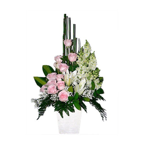 Jual Rangkaian Bunga Meja Karangan Bunga Vas Table Flower Bvs91 Jakarta Barat Aconite Florist Tokopedia