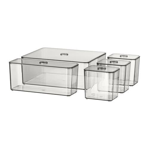 Foto Produk 5PC GODMORGON Kotak dg penutup buram box penyimpanan 24x20x10cm dari IKEA ONE Indonesia