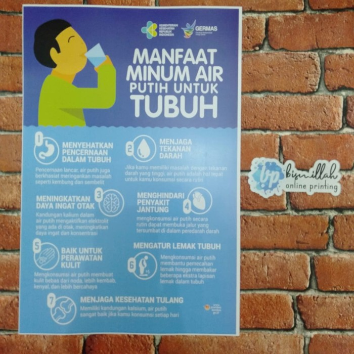 Jual Poster Manfaat Minum Air Putih Kota Surabaya De Nuno S Tokopedia