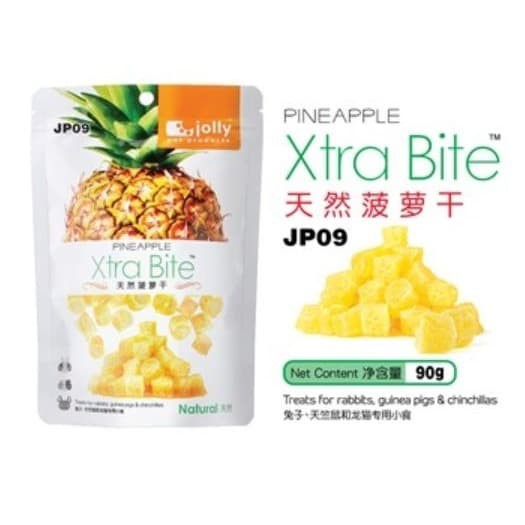 Foto Produk JP09 Jolly Dried Pineapple Treat 90gr Rabbit Guinea Pig Chinchilla - EXP 2022-01-04 dari Hime petshop