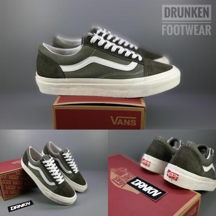 Jual Sepatu Vans OS Old Skool OG Vault Green Army 100% PREMIUM IMPORT Kab. Bandung Drunken_Footwear   Tokopedia
