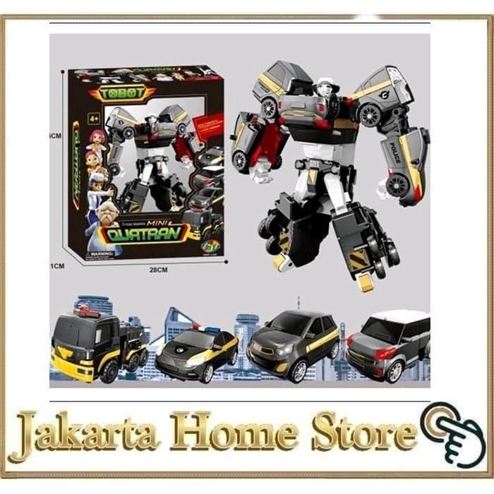 Foto Produk TOBOT MINI QUATRAN 4IN1 GABUNG MOBIL 4 JADI 1 ROBOT dari Jakarta Home Store