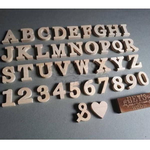 Hasil gambar untuk huruf kayu