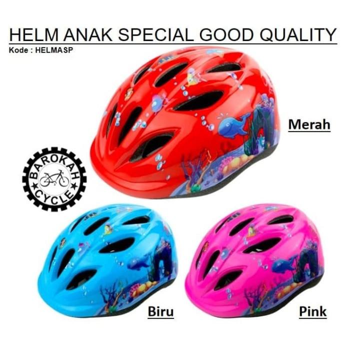 Foto Produk Helm Sepeda ANAK SPECIAL Good Quality - Merah dari Toko Sepeda Barokah