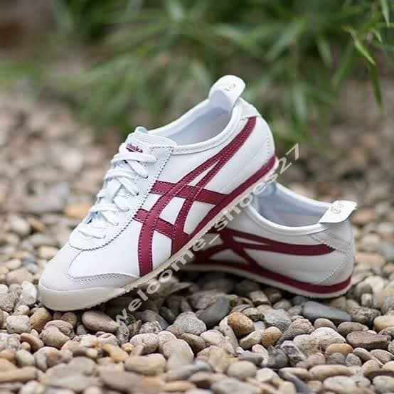 onitsuka tiger mexico 66 white burgundy silver