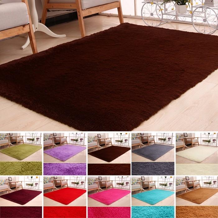 Jual 1 Shaggy Fluffy Rugs Anti Skid Area Rug Dining Room Carpet Bedroom Jakarta Barat Agen Amika Tokopedia