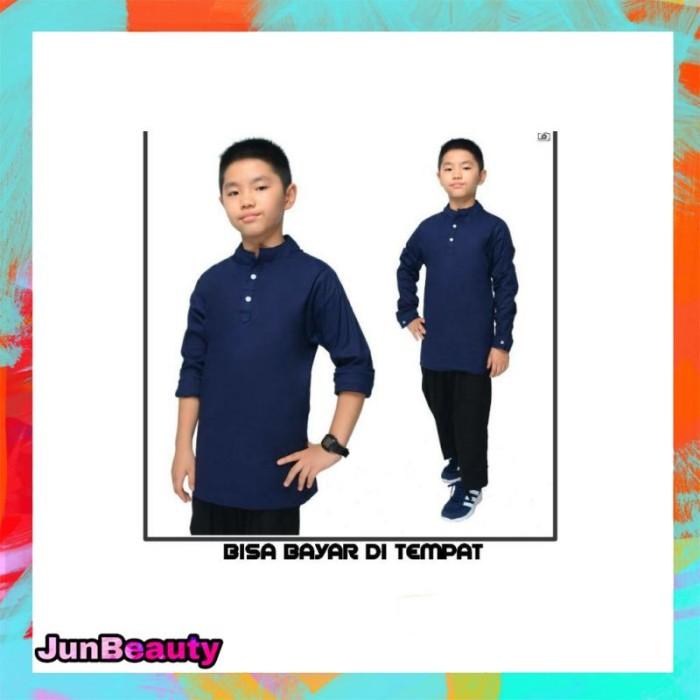 Foto Produk Baju Koko Anak - Baju Muslim Anak Laki Usia 8 - 13 TAHUN - Putih dari JunBeauty