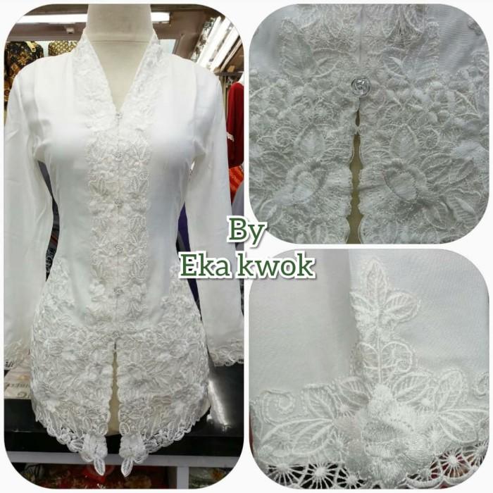 Foto Produk Kebaya betawi kancing rose - Putih, M dari eka kwok