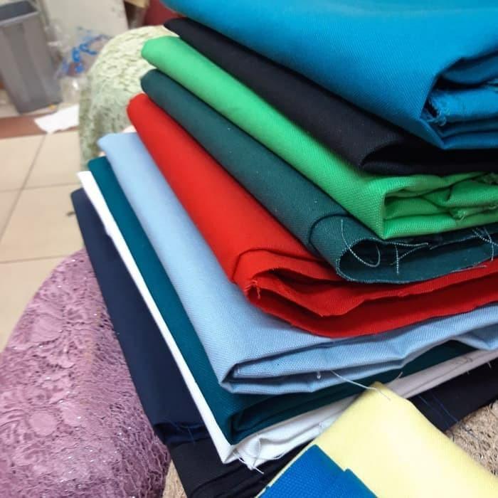 Foto Produk Kain kanvas polos import. bahan tas, tenda, sepatu. kain canvas dari SYIFA KEBAYA