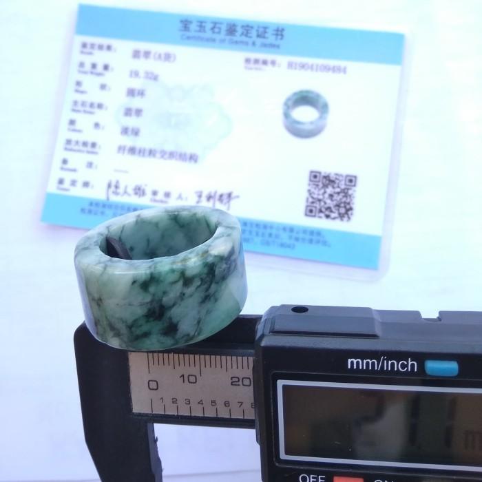 Foto Produk Rare Item Natural Cincin Ring Giok Burma Rasa Pirus Persia/ Turquoise dari pencari_rizki