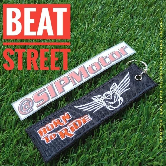 Foto Produk Gantungan Kunci Motor Honda Beat Street Keytag Keychain Bordir dari SIPMotor