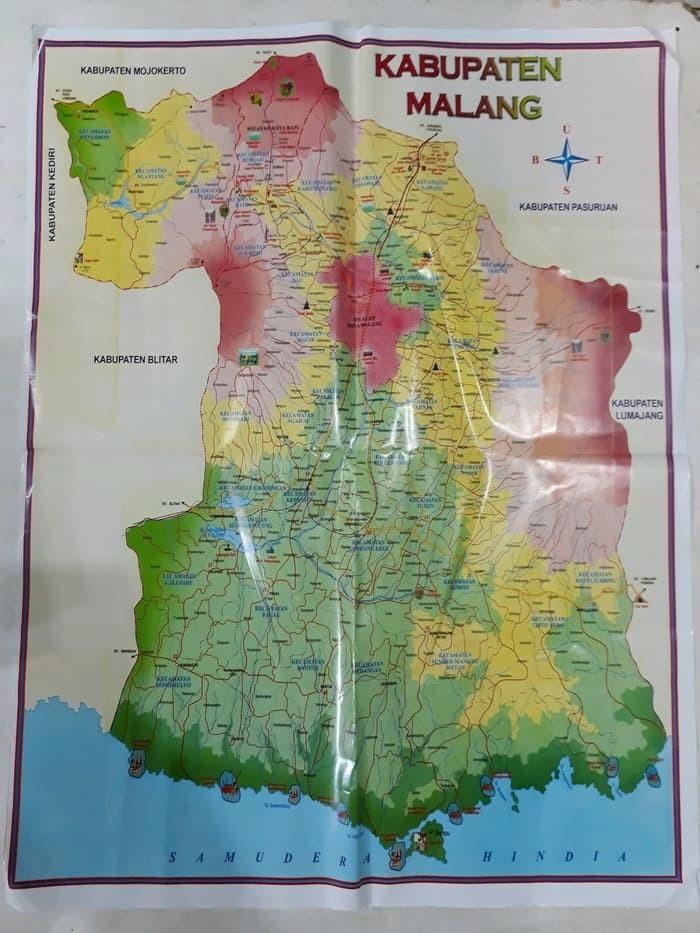 Jual Buku Pariwisata Peta Kota Malang Dan Kabupaten Malang ...