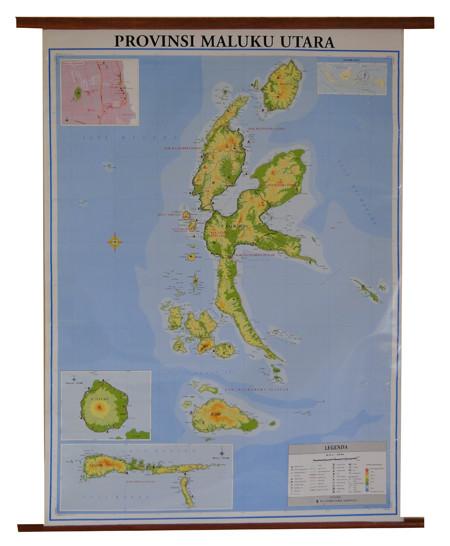 Jual Atlas Kualitas Terjamin Peta Provinsi Maluku Utara Bingkai Jakarta Selatan Elmafarida Tokopedia