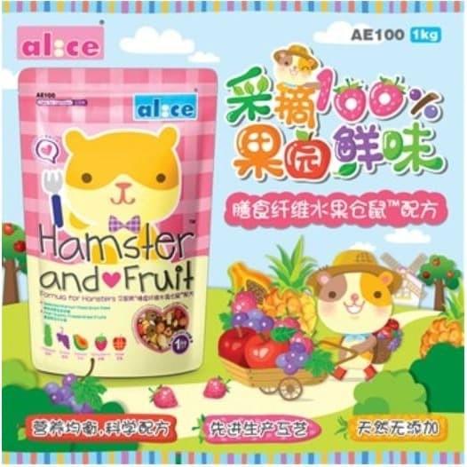 Foto Produk AE100 Alice Hams and Fruit 1kg Makanan Hamster Buah Kering - EXP 2021-07-04 dari Hime petshop