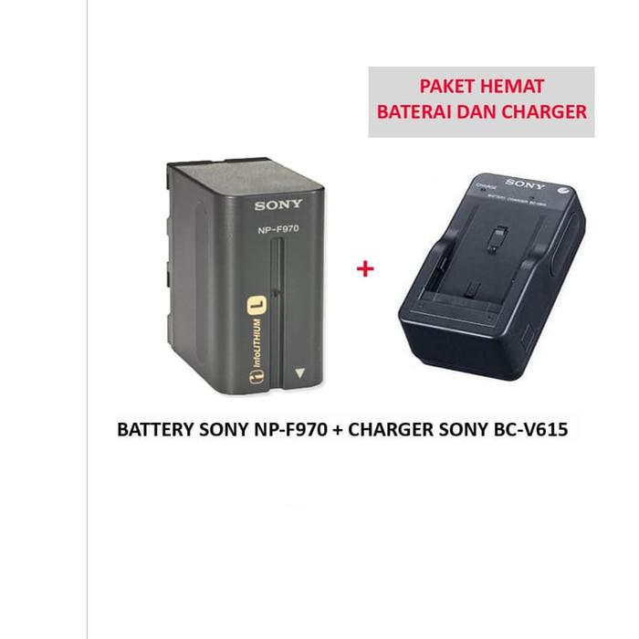 Foto Produk PAKET HEMAT BATERAI SONY NP-F970 + CHARGER BC-V615 dari Grosir Aksesoris Kamera