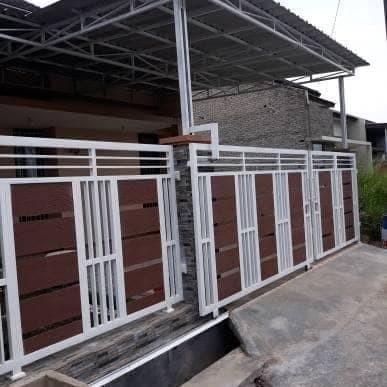 Jual Pintu Pagar Minimalis Dorong - Kota Bekasi - Bengkel Las Galih |  Tokopedia