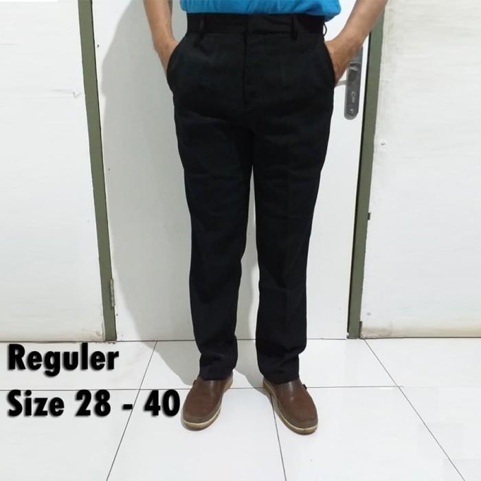 Foto Produk Celana Panjang Bahan Kerja Kantor Pria Formal Slimfit Reguler Big Size dari Mulia Jeans