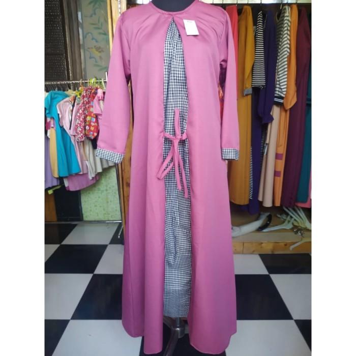 Jual Gamis Busana Muslim Wanita Ungu Kab Gresik Lina Fashion Gresik Tokopedia