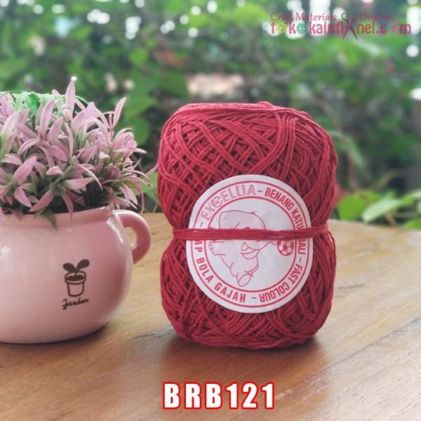 Foto Produk BRB121 Benang Rajut Katun Bali Cap Bola Gajah Exoellia Merah Tua dari Toko Kain Flanel dot com